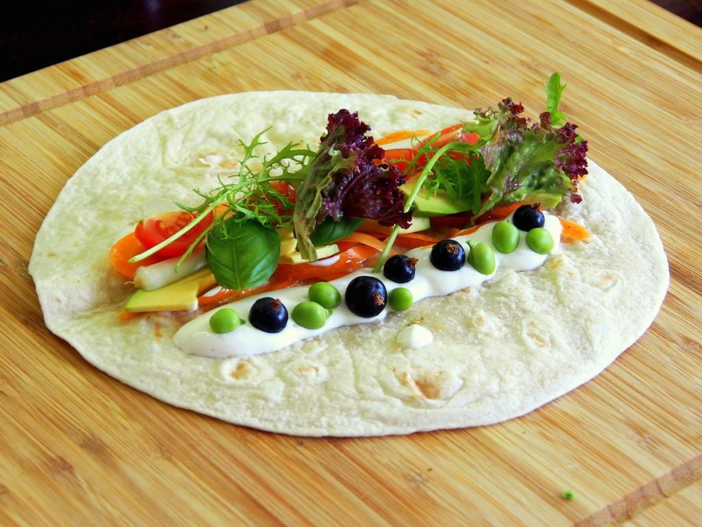Tortilla - před zabalením