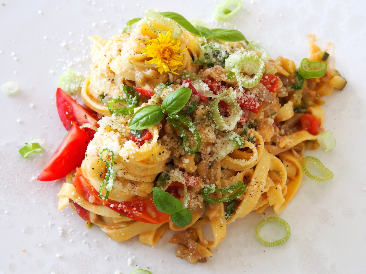 zeleninové fetuccine