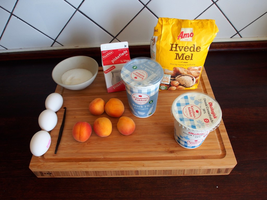 Meruňkový dort - suroviny