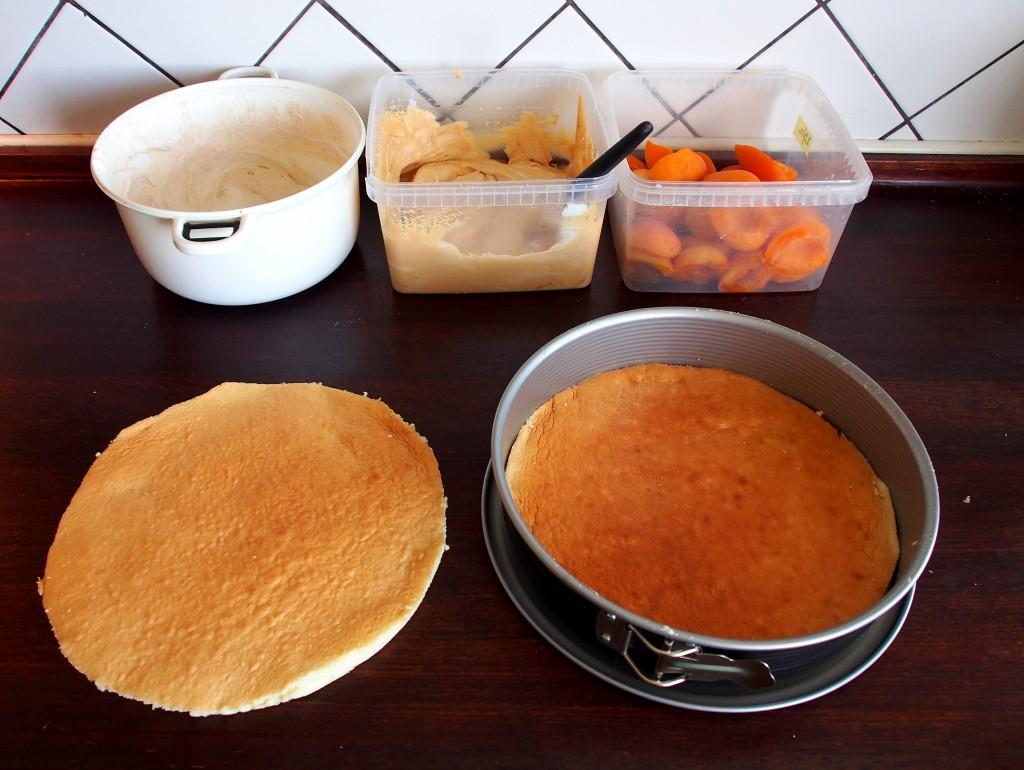 Meruňkový dort - příprava 2