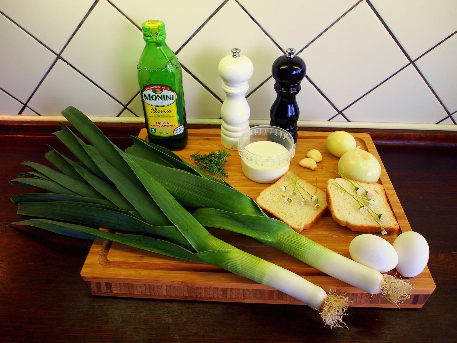 Ingredience - pórková polévka