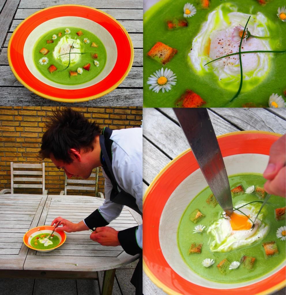 pórková polévka - můžeme podávat